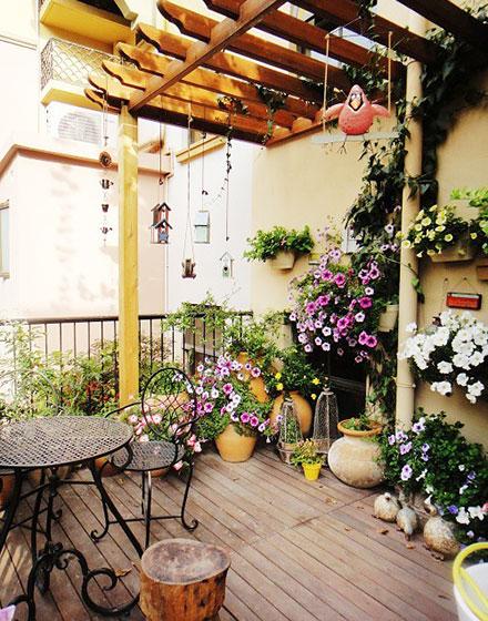 阳台花园演绎空中美景大片
