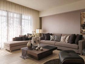 轻工业简中式混搭二居 很有书香味的家居空间