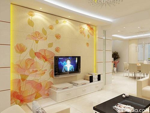 客厅电视背景墙现代简约效果图 让你的客厅与众不同