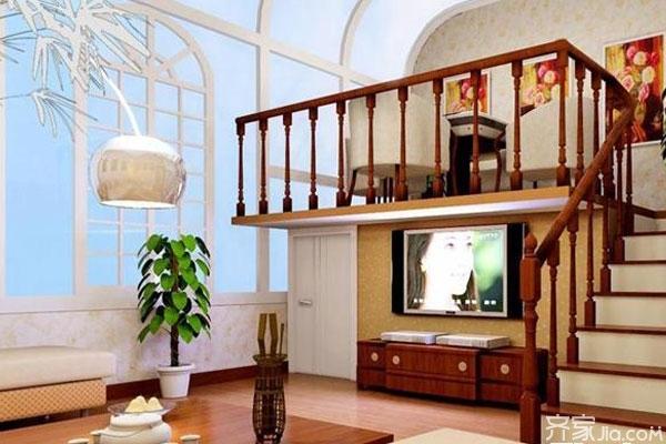 带楼梯的电视背景墙 客厅电视背景墙这样装饰才漂亮