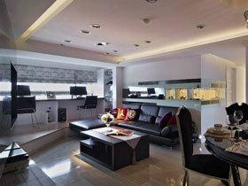 营造挑高感 85平欧式三居