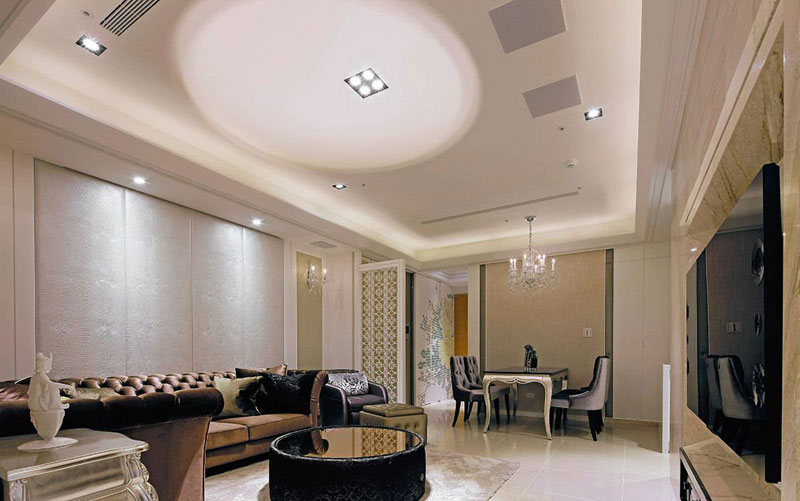 欧式客厅设计效果图