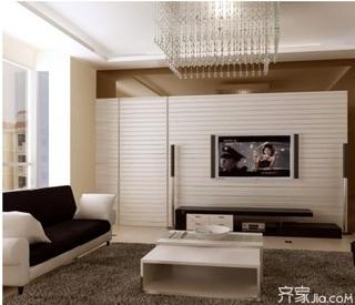 客厅隐形门电视背景墙设计 客厅电视背景墙装修效果图欣赏图片