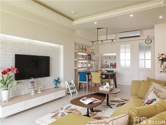 北欧风格电视背景墙 打造唯美精致的客厅