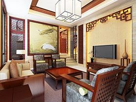 中式客廳電視背景墻 13圖完美詮釋