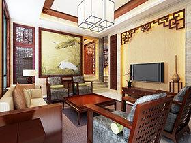 中式客厅电视背景墙 13图完美诠释