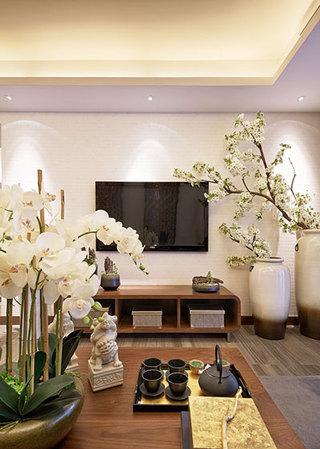 典雅中式客厅电视背景墙
