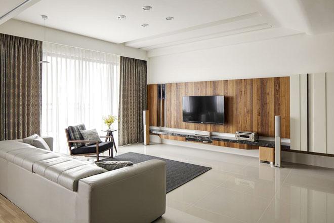 自然环保木质电视背景墙