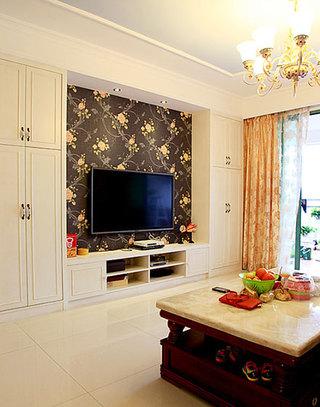 花样繁多的客厅电视背景墙墙纸