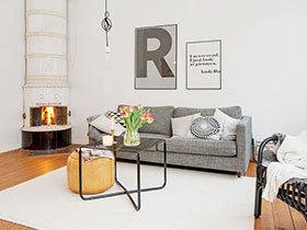 12个北欧客厅字母装饰画 简约时尚