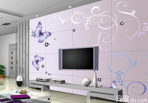 客厅墙壁贴瓷砖好吗 瓷砖背景墙的优缺点高清图片