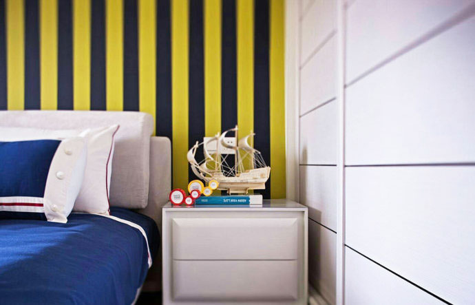150平方装修效果图卧室床头设计