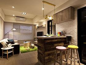 森系简欧风小公寓装修 空间小更要精致