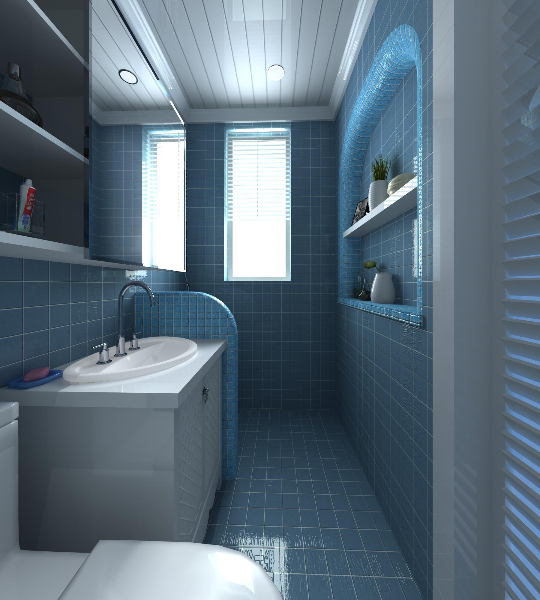 2,设计重点:卫浴美丽风景区的小别墅,用大大的落地窗留出外面的