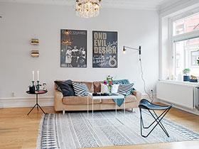 纯净北欧风客厅设计 巧用棉麻地毯丰富生活