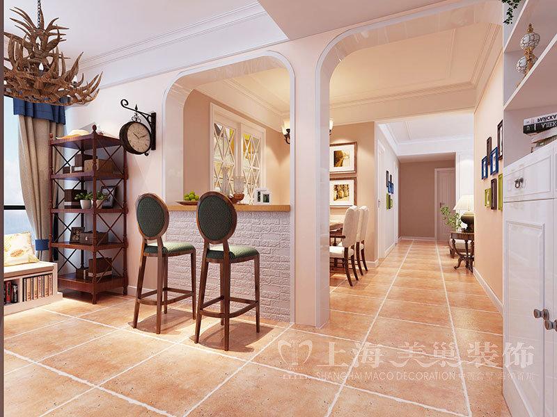 80平米美式三居室装修效果图,锦艺轻纺城87平三室美式图片