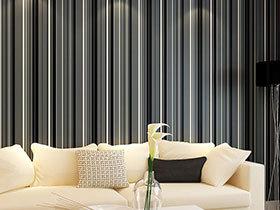 14款客厅壁纸图片 极致黑白最经典