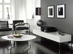 极致简约 13张黑白色调客厅装修效果图