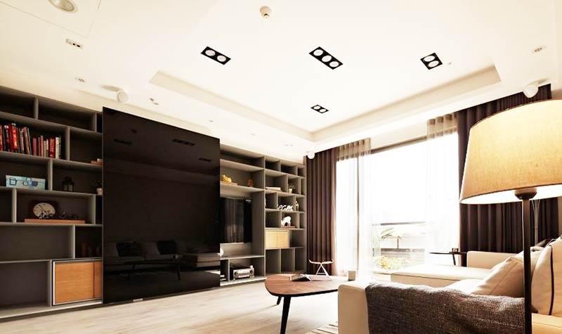欧式小户型设计电视背景墙装修
