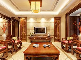 傲骨国风 12个中式装修客厅电视背景墙