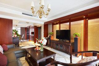 温润素雅中式装修客厅电视背景墙