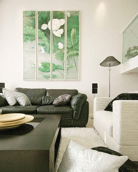 别样清新中式客厅装修效果图