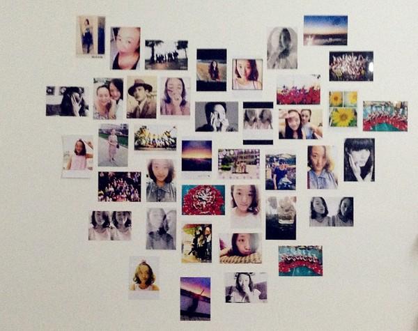 照片墙中的照片通常都是孩子可爱的笑脸或者是朋友