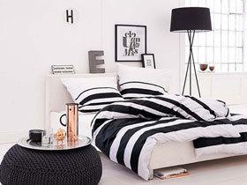 简单时尚的美 14款黑白卧室设计图