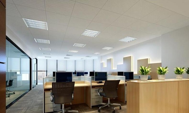 办公室办公区装修效果图