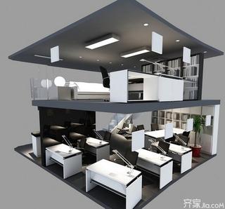 二层办公室设计立体图
