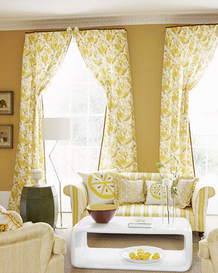 清新客厅窗帘效果图