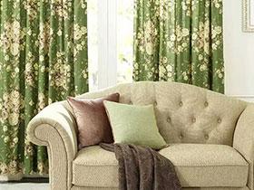 11個客廳窗簾效果圖 大氣圖案領主調