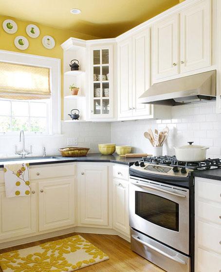 黄色厨房设计图