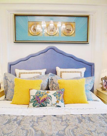 黄色卧室效果图