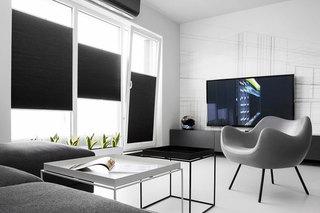 时尚极简黑白客厅效果图