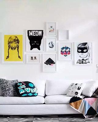 时尚客厅装饰画布置效果图
