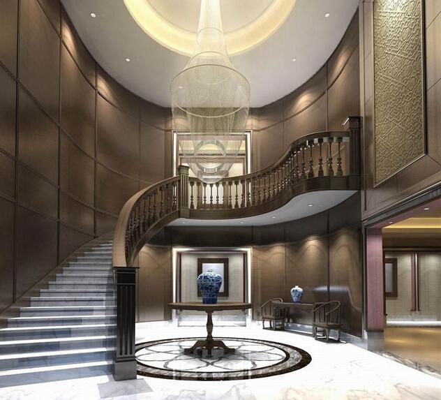 私人会所室内楼梯装修图片