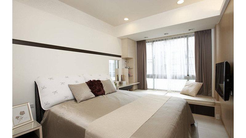 平米简约三居室装修效果图,98平现代简约三居装修案例效果图 齐家高清图片