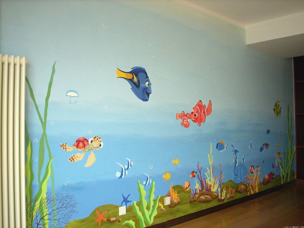 家居图册 幼儿园墙绘设计图片大全 幼儿园,5-10万,60-90平米