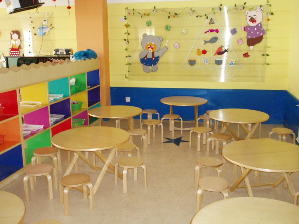 幼儿园餐厅布置图片_齐家网装修效果图