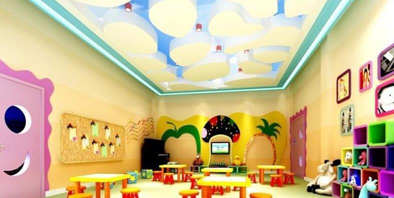 幼儿园室内吊顶装修图片
