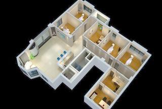 医院装修3D效果图