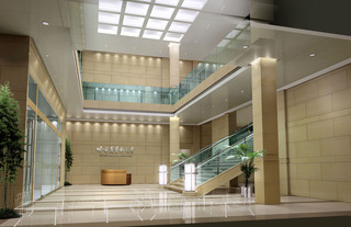 医院装修大堂效果图片