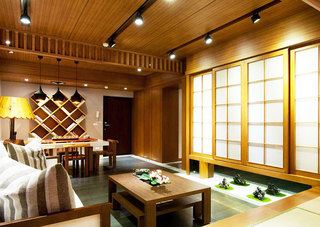 日式风格两室一厅舒适效果图