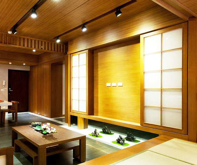 日式风格两室一厅舒适装修效果图