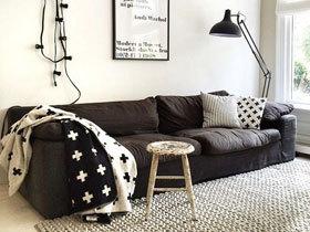 完美诠释黑白时尚 14款北欧客厅效果图