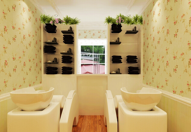 现代美发店洗头间效果图片欣赏