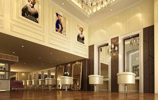 欧式美发店室内设计图片