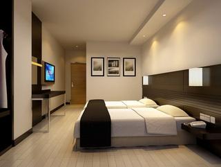 宾馆双人间设计室内效果图片