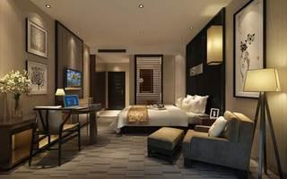 中式风格宾馆装饰室内效果图片